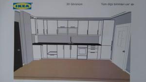 Örnek İkea mutfak tasarımı